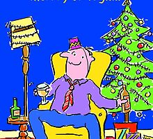 Christmas Card - Ding Dong. by Nigel Sutherland