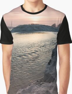 sunset on the big river Graphic T-Shirt