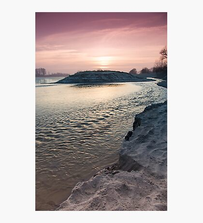 sunset on the big river Photographic Print