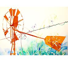 Windmill & Wire Photographic Print
