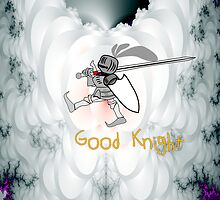 Good Knight - pillow & tote design by Dennis Melling