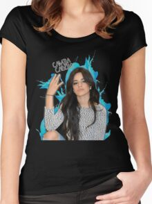 CAMILA CABELLO FROM FIFTH HARMONY CUTE PHOTO Women's Fitted Scoop T-Shirt