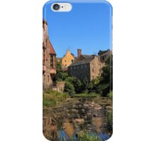 The Water of Leith with Well Court (Left) & Dean Village (Right) iPhone Case/Skin