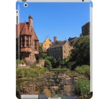 The Water of Leith with Well Court (Left) & Dean Village (Right) iPad Case/Skin