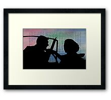 To Catch a Thief II Alfred Hitchcock Movie Slihouette Collage Framed Print
