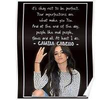 CAMILA CABELLO FROM FIFTH HARMONY QUOTE Poster
