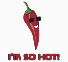 I'm So HOT! Cayenne Red Chilli Pepper T-Shirt Sticker One Piece - Short Sleeve