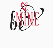 Be Mine Curly Typography Womens Fitted T-Shirt