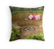 Sunken Garden Throw Pillow