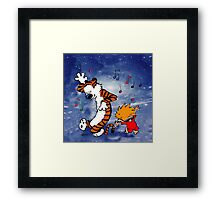 Dancing Calvin and Hobbes Framed Print