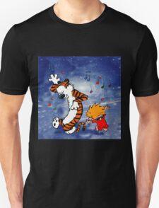 Dancing Calvin and Hobbes Unisex T-Shirt