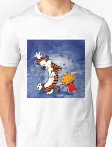 Dancing Calvin and Hobbes Unisex T-Shirt