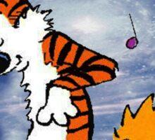 Dancing Calvin and Hobbes Sticker