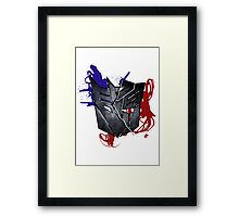 Which side are you on? Framed Print