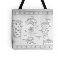 Azeroth map - Black and White hand drawn Tote Bag