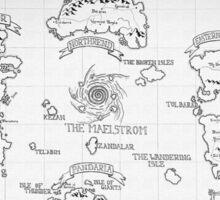 Azeroth map - Black and White hand drawn Sticker