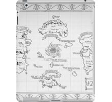 Azeroth map - Black and White hand drawn iPad Case/Skin