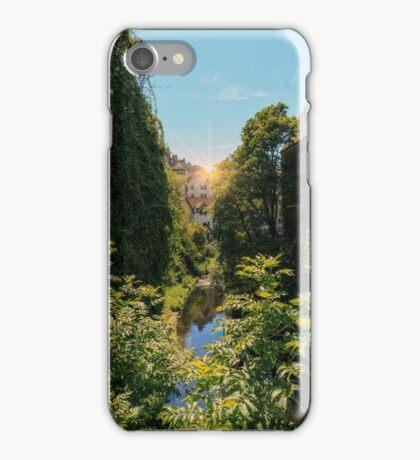 Water of Leith with Dean Village, Edinburgh iPhone Case/Skin