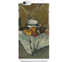 Still Life with Jar, Cup, and Apples ,  Paul Cézanne iPhone Case/Skin