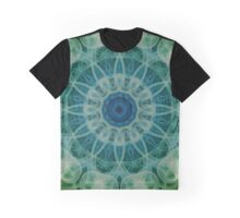 Detailed mandala in green and blue tones Graphic T-Shirt