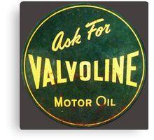 Valvoline Vintage dieselpunk signboard Canvas Print