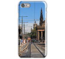 Looking along Princes Street, Edinburgh iPhone Case/Skin
