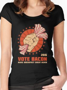 Vote Bacon Women's Fitted Scoop T-Shirt