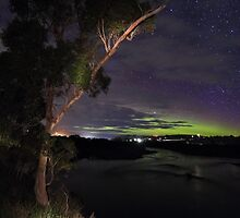 aurora at Forth River, Tasmania    3.8.2016 by gaylene