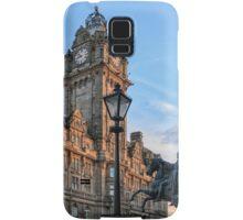 Balmoral Clocktower and Duke of Wellington Statue. Edinburgh Samsung Galaxy Case/Skin