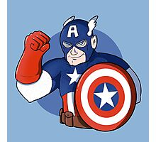 Captain America- the Star Spangled Man with a Plan Photographic Print