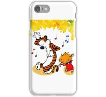 Dance Calvin and Hobbes  iPhone Case/Skin