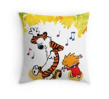 Dance Calvin and Hobbes  Throw Pillow
