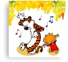 Dance Calvin and Hobbes  Canvas Print