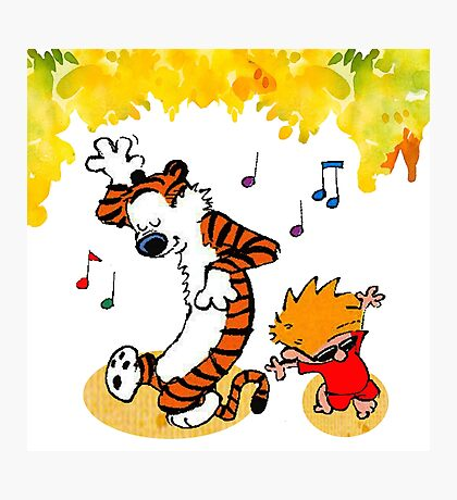 Dance Calvin and Hobbes  Photographic Print