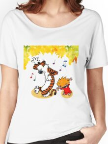 Dance Calvin and Hobbes  Women's Relaxed Fit T-Shirt