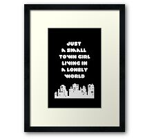 Small Town Girl Framed Print