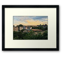 Edinburgh Sunset from Princes Street Gardens Framed Print