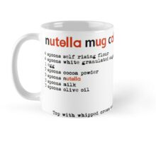 nutella mug cake Mug