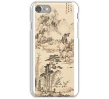 Wang Su (18th Century) RECLUSE ON A BOAT iPhone Case/Skin