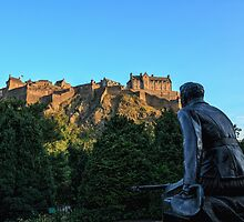 Scots American War Memorial Overlooking Edinburgh Castle by Miles Gray