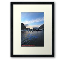 Lofoten Islands - Reine port - Norway . Anno Domini 2011. © Dr.Andrzej Goszcz. Framed Print