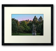 The Genius of Architecture Statue below Edinburgh Castle Framed Print