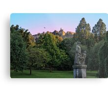 The Genius of Architecture Statue below Edinburgh Castle Metal Print