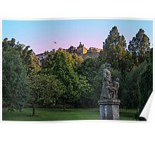 The Genius of Architecture Statue below Edinburgh Castle Poster