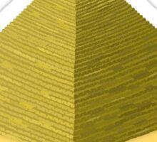 Glitch furniture roomdeco pyramid Sticker
