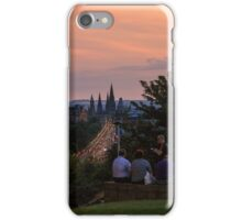 Nightfall over Edinburgh from Calton Hill iPhone Case/Skin