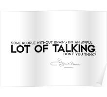 lot of talking - l. frank baum Poster
