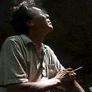 Smoking Man - Pohnpei, Micronesia by Alex Zuccarelli