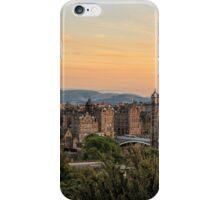 Sunset over Edinburgh Skyline iPhone Case/Skin