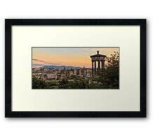 Sunset over Edinburgh Skyline Framed Print